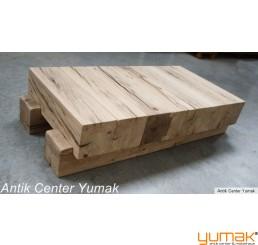 Couchtisch aus Massiv Alten Eichen Holz