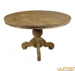 Teak Tisch rund